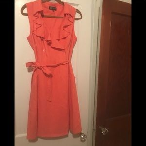NWOT New York and Co. Coral midi wrap dress
